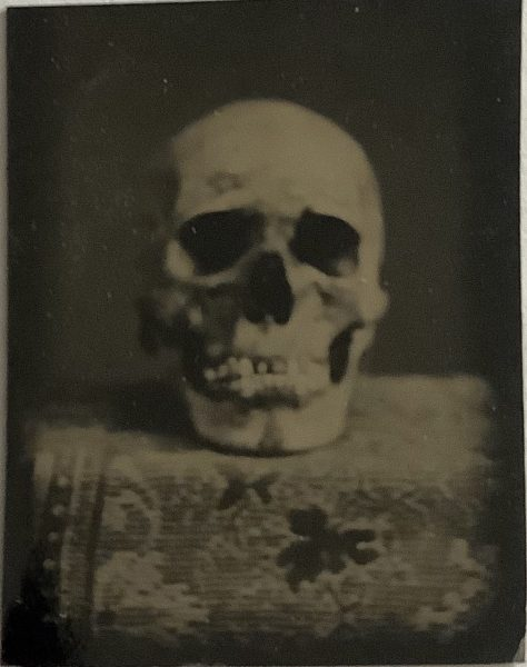 Tintype photo C. 1860s from family photo album, determined to be in the collection of Harvard Medical School at the time